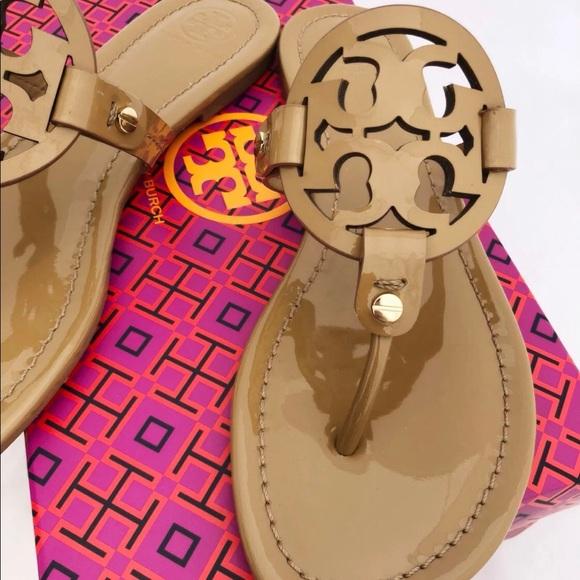 a01470baca5c0 Tory Burch Miller Sandals Flip Flop Sand Tan
